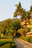 Hotelgarten Stockbild