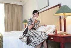 Hotelgast Benennen Stockfotos