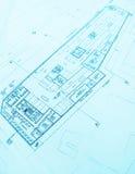 Hotelgebäudeplan Stockfoto