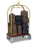 Hotelgepäckwagen lizenzfreie stockfotos