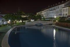 Hotelgrondgebied (het grondgebied van Hotella Caletta, Alcossebre, Spanje) Royalty-vrije Stock Afbeelding