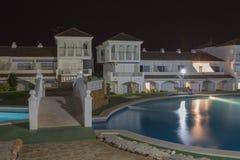 Hotelgrondgebied (het grondgebied van Hotella Caletta, Alcossebre, Spanje) Royalty-vrije Stock Fotografie
