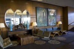Hotelhal van Vier Seizoenen Vancouver stock foto