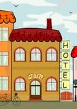 Hotell vektor illustrationer