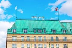 Hotell Adlon Kempinsky i Berlin, Tyskland Arkivfoto