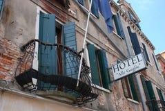 Hotell Alle Guglie, Cannaregio, Venedig, Italien royaltyfri fotografi