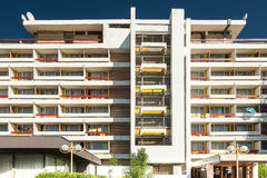 Hotell Amfiteatru i Olimp feriesemesterort Royaltyfria Bilder