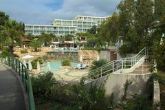 Hotell Amfora i staden Hvar Royaltyfri Fotografi