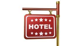 Hotell animering stock illustrationer