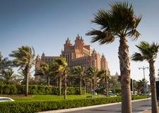 Hotell Atlantis, Dubai, UAE. Royaltyfria Foton