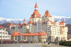 Hotell`-Bogatyr ` i Sochi Arkivfoton