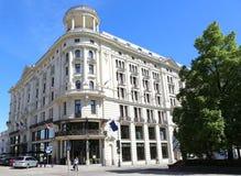 Hotell Bristol ett lyxigt hotell för fem stjärna som innehåller 168 rum och bygger i 1901 Arkivbild