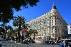 Hotell Carlton i Cannes Royaltyfri Fotografi