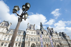 Hotell de Ville Paris Architecture Arkivbild