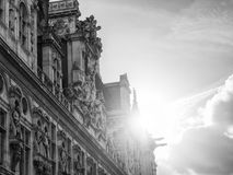 Hotell-de-Ville (stadshus) i Paris Fotografering för Bildbyråer
