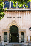 Hotell de Ville Town Hall i Marseilles Arkivbilder