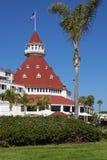 Hotell Del Coronado i San Diego, Kalifornien, USA Arkivbild