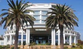Hotell Del Mar i Vina Del Mar, Chile Fotografering för Bildbyråer