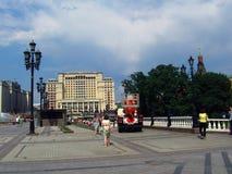 Hotell för fyra säsonger och Manege fyrkant i Moskva Arkivbilder