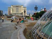 Hotell för fyra säsonger och Manege fyrkant i Moskva Royaltyfri Foto