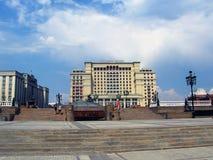 Hotell för fyra säsonger och Manege fyrkant i Moskva Arkivfoton