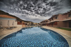 Hotell för LaMarquise Luxurious brunnsort i Grekland Royaltyfri Fotografi