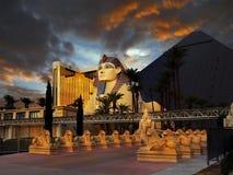 Hotell för Luxor pyramidsfinx, Las Vegas Fotografering för Bildbyråer