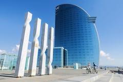 Hotell för W Barcelona Arkivbild