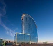 Hotell för W Barcelona, också som är bekant som hotellvelana Royaltyfri Foto