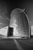 Hotell för W Barcelona, också som är bekant som hotellvelana Arkivbild