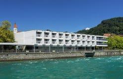 Hotell Freienhof i Thun Royaltyfria Bilder