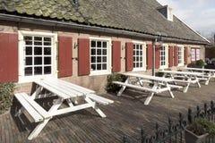 Hotell Gouden Leeuw i den minsta staden i Nederländerna Royaltyfri Fotografi