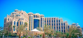 Hotell Hilton Eilat Queen av Sheba, Israel Fotografering för Bildbyråer