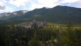 Hotell i Banff, Alberta, Kanada Arkivfoton