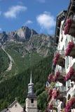 Hotell i Chamonix, Frankrike Arkivfoton