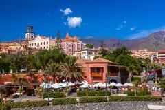 Hotell i den Tenerife ön - kanariefågel Royaltyfri Fotografi