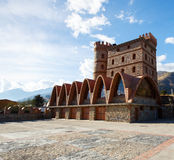 Hotell i en slott i Merida, Venezuela Arkivbilder