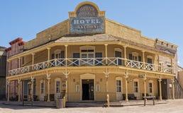 Hotell i gamla Tucson Royaltyfri Foto