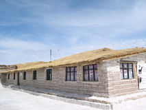 Hotell i Salar de Uyuni Arkivbild