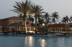 Hotell i Santa Maria - Kap Verde - Afrika royaltyfria foton
