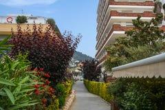 Hotell i semesterorten Royaltyfria Bilder