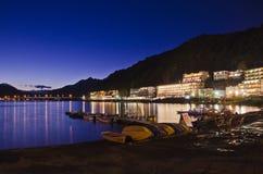 Hotell i sjön Kawaguchiko Arkivfoton
