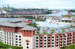 Hotell i staden Singapore Fotografering för Bildbyråer