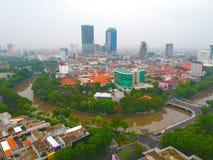 Hotell i Surabaya, det utomhus- landskapet charmar så royaltyfria bilder