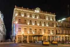 Hotell Inglaterra - havannacigarr, Kuba arkivfoton