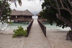 hotell maldives Royaltyfri Bild