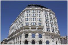Hotell Marriott i mitten av Skopje arkivbild