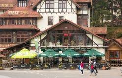 Hotell med restaurangen i Karpacz Arkivbild