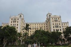 Hotell Nacional, havannacigarr, Kuba royaltyfri bild