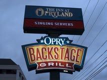 Hotell nära den storslagna Ole Opry Music Centre i Nashville Tennessee USA Arkivbilder